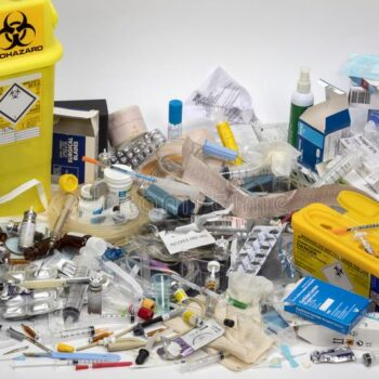 medical-waste-disposal-infection-risk-some-many-use-once-plastic-paper-cardboard-glass-metal-items-used-modern-151621901